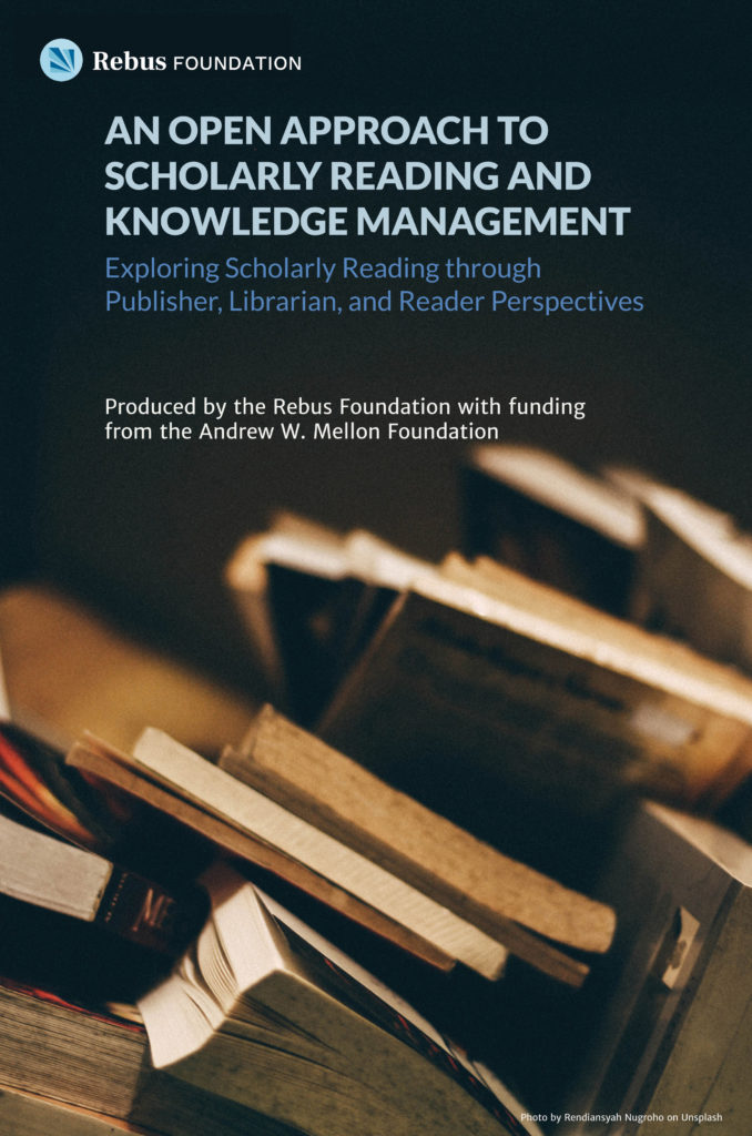 cover image of An Open Approach to Scholarly Reading and Knowledge Management