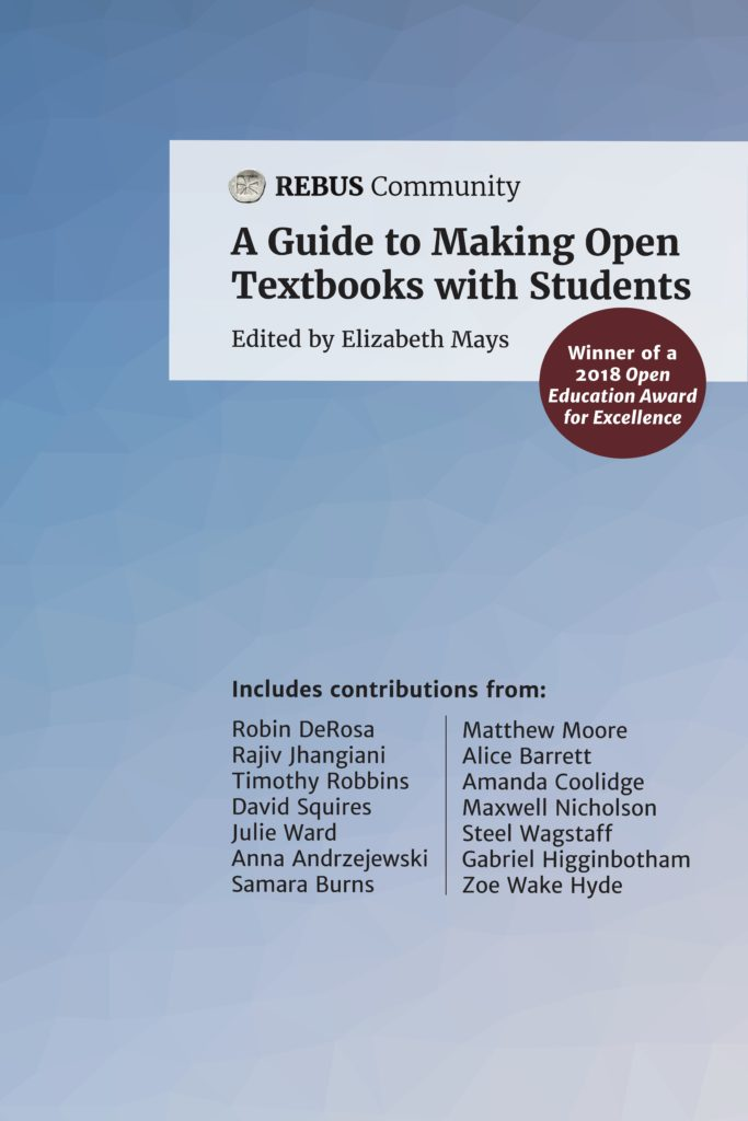 cover image of A Guide to Making Open Textbooks with Students